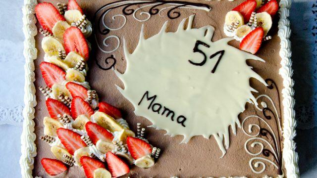 Schoko-Banane-Cremetorte, Geburtstagstorte